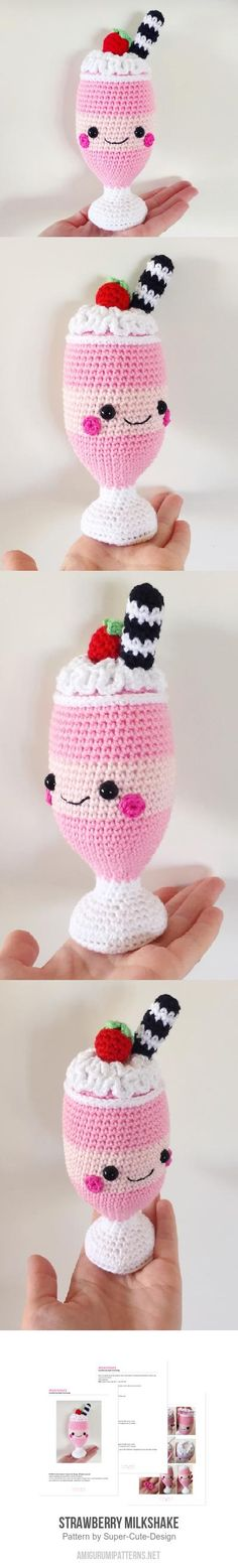 Strawberry Milkshake Amigurumi Pattern