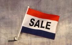 Sale Red White and Blue Advertising Car Window Flag