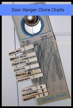 Door Hanger Chore Charts