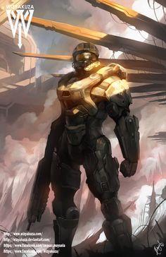 Master Chief  Halo  11 x 17 Digital Print by Wizyakuza on Etsy