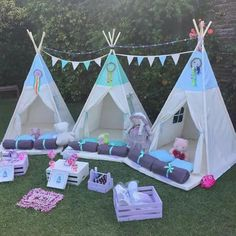 Combo Pijamadas signal the start of your Indian carp Kids Tents, Teepee Kids, Teepees, Sleepover Birthday Parties, Girl Sleepover, Teepee Party, Camping Parties, Spa Party, Diy For Kids