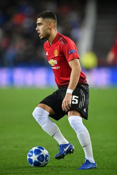 Andreas Pereira of Manchester United controls the ball during the UEFA Champions League Group H match between Valencia and Manchester United at Estadio Mestalla on December 2018 in Valencia,. Get premium, high resolution news photos at Getty Images Manchester United Old Trafford, Manchester United Football, Valencia Spain, December 12, Uefa Champions League, Football Players, The Unit, Nike, Fun
