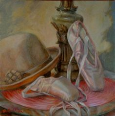 """Items similar to In the style of Renoir, Oil Painting """"Still Life with Hat & Ballet Slippers"""" Oil painting inspired by the everyday beauty in life. on Etsy Painting Still Life, Still Life Art, Pointe Shoes, Ballet Shoes, Ballet Art, Dance Ballet, Oil Painting For Beginners, Expressive Art, Degas"""
