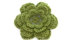 DROPS Crocheting Tutorial: How to work flower for the wreath in DROPS Extra 0-1193