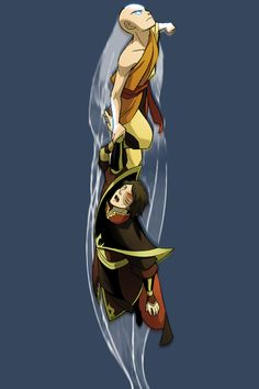 Aang and Zuko Avatar Airbender, Cartoon
