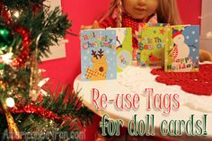 Fun Find: Gift Tags for Doll Christmas Cards! Christmas 2015, Little Christmas, Christmas Cards, Christmas Outfits, Xmas, Ag Dolls, Girl Dolls, American Girl Crafts, Doll Food
