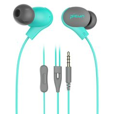 Picun S2 Earphones In-ear Earbuds Headphones with Microphone (Light Blue or Mint Green)