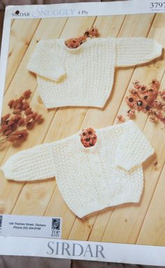 Baby Lace Cardigan & Sweater Sirdar 3797 knitting pattern 4 ply yarn  #Sirdar
