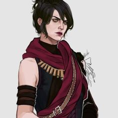 """drawingllamas: """"drew this quality mod that finally clothes poor morrigan """""""