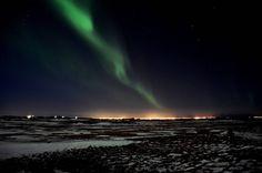 Una aurora boreal en Islandia, captada por la usuaria 'carolinw' en Pixabay.