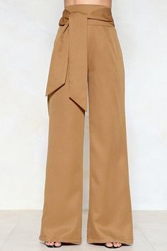 Wide of the Mark High-Waisted Pants Brown Pants, Khaki Pants, Corporate Attire, Pretty Outfits, Pretty Clothes, Nasty Gal, Diy Clothes, Wide Leg, Classy