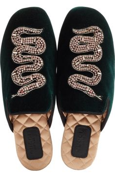 92a4d57a5f6 Main Image - Gucci Lawrence Snake Mule (Women) Velvet Shoes