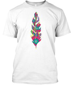 Tshirt Designer   Feather Arctic White T-Shirt Front