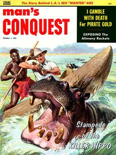 Man's Conquest Cover by Norman Saunders www.sportinglifeblog.com