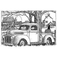 Ellen Hutson LLC - Impression Obsession Cling Stamps, Classic Truck, $8.50 (https://www.ellenhutson.com/impression-obsession-cling-stamp-set-classic-truck/)