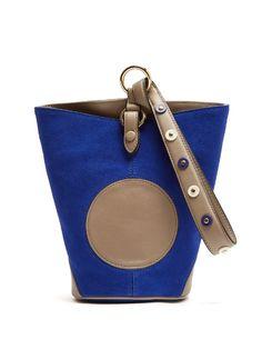 DIANE VON FURSTENBERG Steamer Mini Leather And Suede Wristlet Clutch. #dianevonfurstenberg #bags #clutch