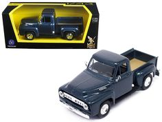 1953 Ford F-100 Pick Up Truck Dark Blue 1/43 Diecast Car Model by Road Signature - Brand new 1:43 scale diecast car model of 1953 Ford F-100 Pickup Dark Blue die cast car by Road Signature. Brand new box. Rubber tires. Detailed interior, exterior. Dimensions approximately L-4 inches. Please note that manufacturer may change packing box at any time. Product will stay exactly the same.-Weight: 1. Height: 5. Width: 9. Box Weight: 1. Box Width: 9. Box Height: 5. Box Depth: 5