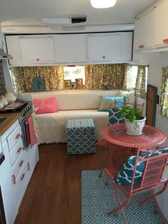 .Interior design I'd luv to do in vintage camper!!!