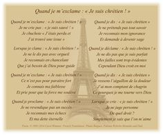 When I say I am a Christian translated into the French language. Ignorance, Social Media Site, Spoken Word, French Language, Christianity, Poems, Spirituality, Author, God