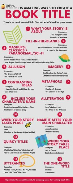 Writers! Here are 15 amazing ways to create a book title!