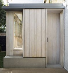 Studio Carver adds American-inspired prefabricated extension to Belsize House Residential Architecture, Interior Architecture, London Architecture, Sas Entree, Timber Cladding, London House, Park Homes, House Extensions, Windows And Doors