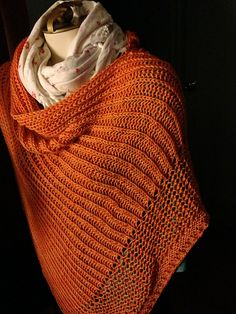 Poncho and Shawl knit in Anzula For Better or Worsted