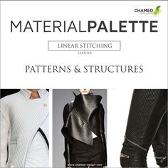 CHAMEO-DESIGN.COM I FOLLOW OUR LEATHER TRENDS I LINEAR STITCHING