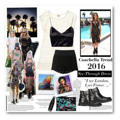 """""""Coachella Trend 2016: See Through Dress"""" by yellowgrapes ❤ liked on Polyvore featuring Stella & Dot, Topshop, Dr. Martens and Zara"""