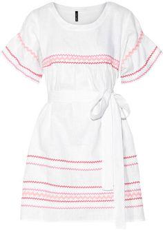 Lisa Marie Fernandez - Fiesta Rickrack-trimmed Linen Mini Dress - White