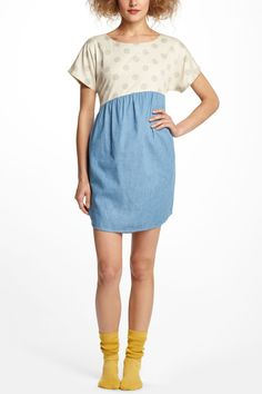 Dots & Chambray Shirttail Chemise - Anthropologie.com