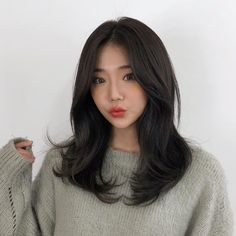 🍀Haero Style 🍀 # Haero Medium Hello, this is God's power Take it Hair Layered Cut State Bangs With Medium Hair, Medium Hair Cuts, Long Hair Cuts, Medium Hair Styles, Short Hair Styles, Asian Hair Medium Length, Mens Haircuts Straight Hair, Short Haircuts, Korean Wavy Hair