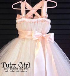 Blush Flower Girl Dresses   Tutu Style