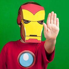 Máscaras de los Vengadores disponibles para descarga gratuita http://spoonful.com/printables/iron-man-mask