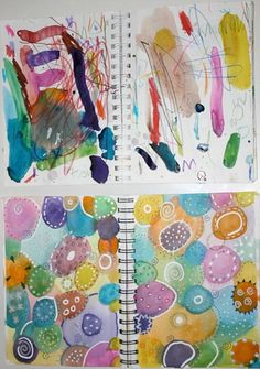 INCREDIBLE article of parent + child Art Journal Journey! Such a great idea! Lots of other art activities to do with kids. Art Journal Pages, Art Journal Prompts, Art Journals, Journal Ideas, Student Journals, Art Tumblr, Tumblr Hipster, Projects For Kids, Art Projects