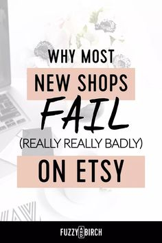"Why most new Etsy shops fail - Most new sellers decide they're just gonna ""dip a toe"" in the water on Etsy, and see if it ""works"". But it's NOT Etsy's job to send you sales. That's YOUR JOB. Craft Business, Business Tips, Online Business, Business Marketing, Business Branding, Internet Marketing, Media Marketing, Starting An Etsy Business, Curriculum Vitae"