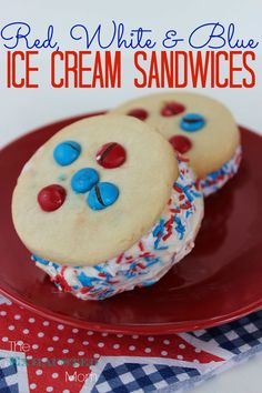 These fun & easy homemade ice cream sandwiches are a family favorite! (Colors are easily changed for the season!)