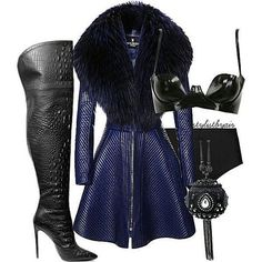 A fashion look from December 2015 featuring fur-collar coats, lingerie bra and plus size bathing suits. Browse and shop related looks. Chic Outfits, Fashion Outfits, Womens Fashion, Fashion Trends, Looks Chic, Complete Outfits, Mode Style, Look Fashion, Autumn Winter Fashion