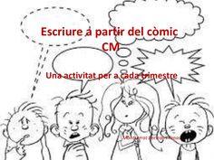 Escriure a partir del còmic Teaching Spanish, Writing, Superhero, Learning, Valencia, Fictional Characters, Art, Texts, Text Types