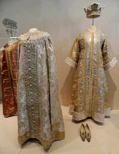 Costumes of Xenia Alexandrovna (left) and Empress Alexandra Feodorovna (right) from 1903 costume ball