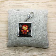 Iron Man Cross Stitch | Keyring  #crossstitch  #handmade #minicrossstitchbyvera #minicrossstitch  #minicrossstitch  #xstitch #jewelrymaking #jewelry #keyring #keychain Iron Man, Mini Cross Stitch, Stitches, Coin Purse, Wallet, Purses, Jewelry, Handbags, Stitching