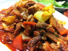 Nak-Ji Bokum / Spicy stir-fried octopus