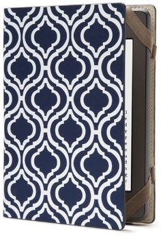 PUNCHCASE Hansen Cover, Navy & White Trellis Print  (fits Kindle Paperwhite, Kindle, and Kindle Touch) by PUNCHCASE by Leslie Hsu, http://www.amazon.com/dp/B008NPADYM/ref=cm_sw_r_pi_dp_i34Uqb17ERTNC