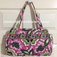 Vera Bradley Whitney Triple Compartment Shoulder Bag Priscilla Pink Floral Purse 886003151174 | eBay