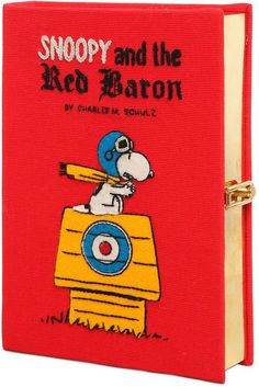 Snoopy Red Baron Embroidered Book Clutch