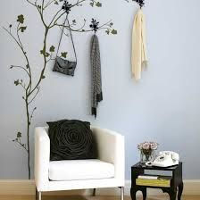 beautiful way to provide place to hang clothes or purse