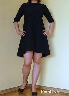 Gotowy wykrój - sukienka bez kaptura