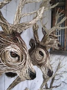 Image result for bust made of woven twigs