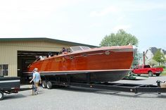 My favorite boat of all time, the Pardon Me by Hutchinson Boat Works 1948. She's a 48' runabout... and such a beauty!