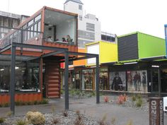 "This is our new ""pop up"" mall in Christchurch made out of shipping containers. funky right?"