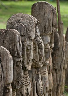 Waga Wooden Carved Sculptures Devoted To The Dead Konso Tribe Omo Valley Ethiopia by Eric Lafforgue, via Flickr